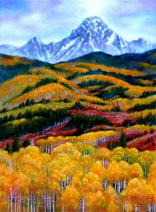 Rockies' Fall Patterns - Paintings by John Lautermilch
