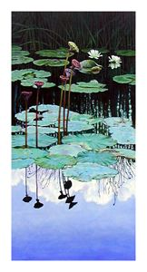 Floating, Reflective Beauty - Paintings by John Lautermilch