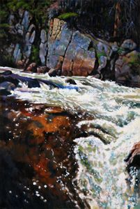 Rushing Waters Colorado 34-2004 - Paintings by John Lautermilch