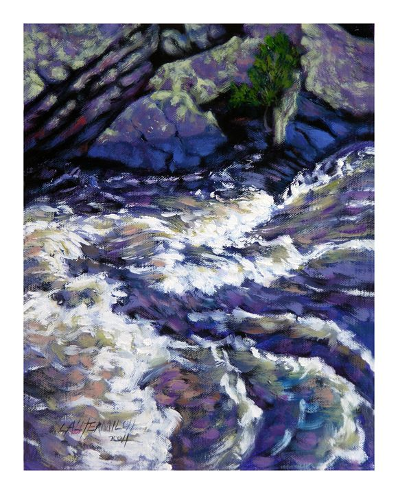 Rushing Waters 41-2004 - Paintings by John Lautermilch