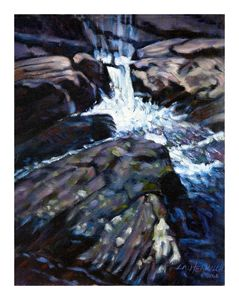 Rushing Waters 43-2004 - Paintings by John Lautermilch