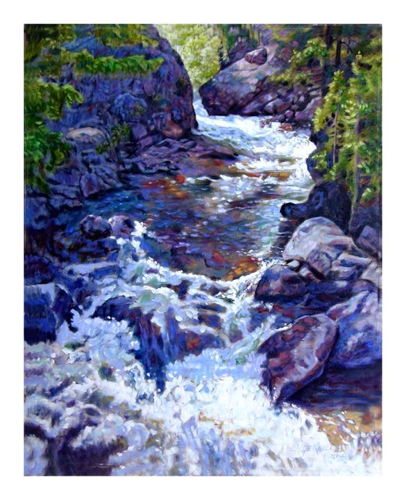 Rushing Waters 49-2004 - Paintings by John Lautermilch