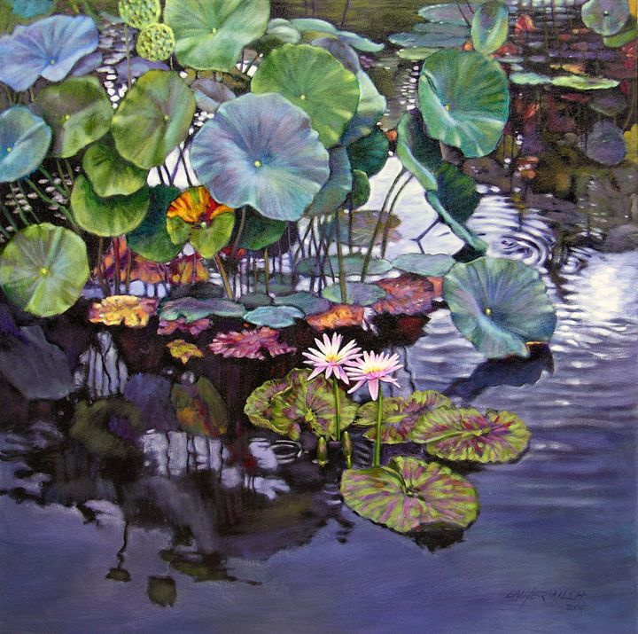 Summer Reflections 62-2004 - Paintings by John Lautermilch