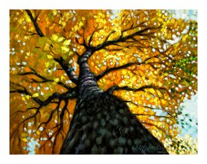 Gold in Upper Branches 68-2004 - Paintings by John Lautermilch