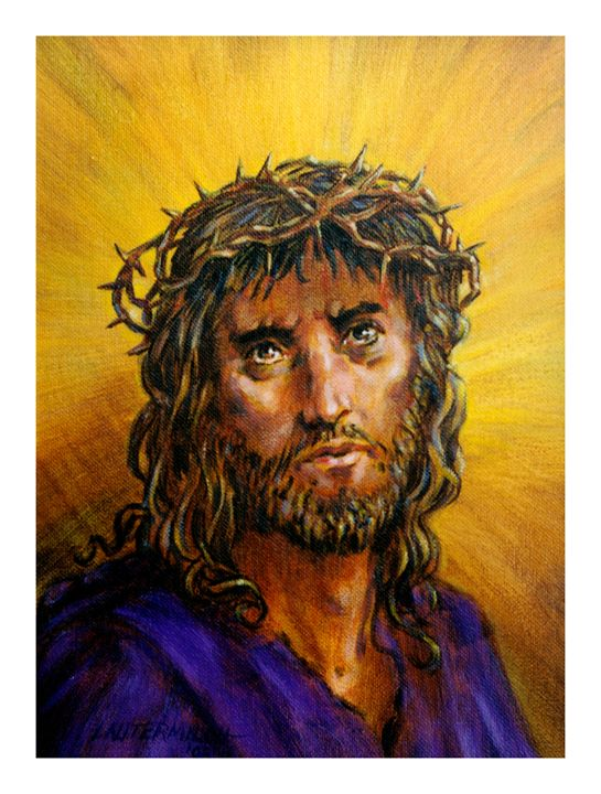 Christ with Thorn Crown - Paintings by John Lautermilch