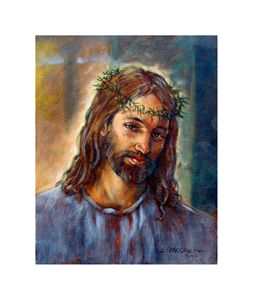 Jesus with Crown of Thorns - Paintings by John Lautermilch