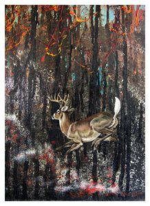 Forest on Fire - Paintings by John Lautermilch
