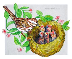 Spring Chicks - Paintings by John Lautermilch