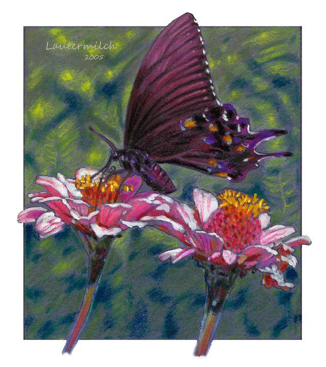 Black Beauty in my Garden - Paintings by John Lautermilch