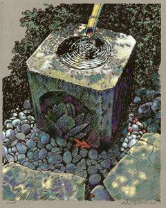Fountain of Peace 79-2005 - Paintings by John Lautermilch