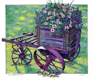 Country Wagon - Paintings by John Lautermilch