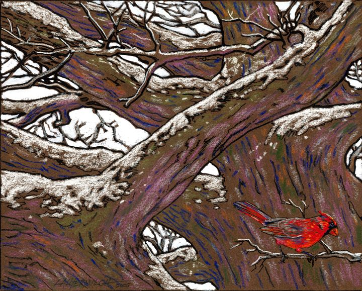 Ancient Oak Shelter - Paintings by John Lautermilch