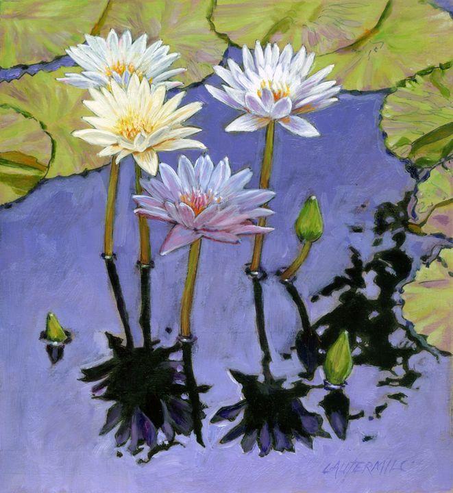 Pastel Petals - Paintings by John Lautermilch