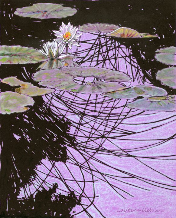 Stain Glass Reflections - Paintings by John Lautermilch