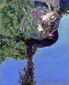 Sunlight and Willow Reflections - Paintings by John Lautermilch