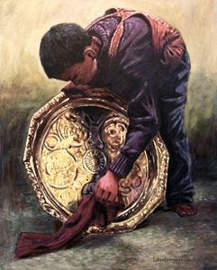 Young Apprentice - Paintings by John Lautermilch