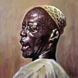 Man in Skull Cap - Paintings by John Lautermilch
