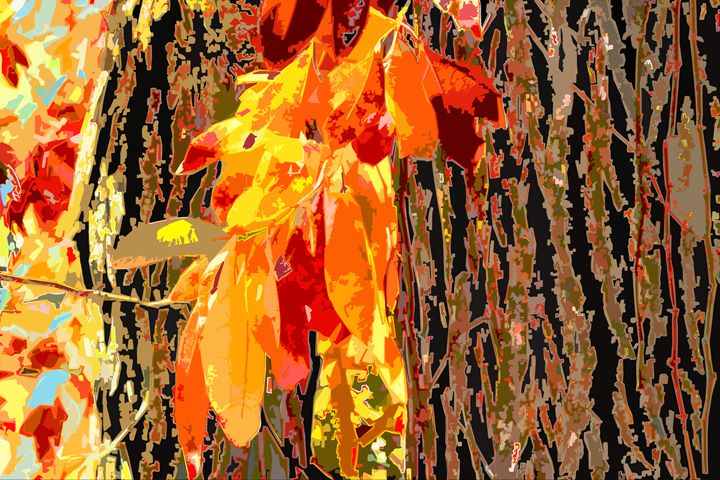 Leaves and Bark - Paintings by John Lautermilch