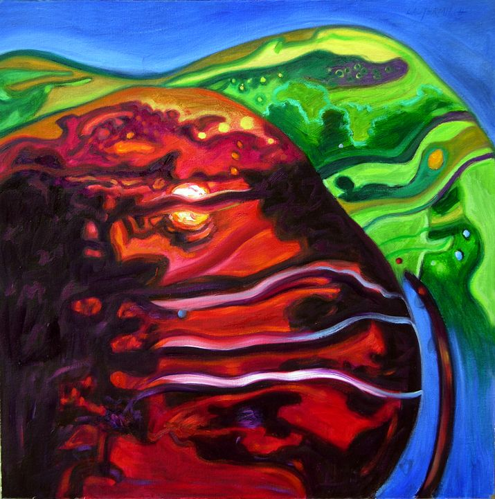 Abstract 58-2005 - Paintings by John Lautermilch