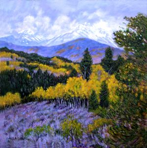 Fall in the Rockies 63-2005 - Paintings by John Lautermilch