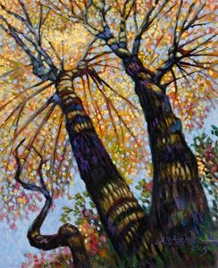 Reaching for the Light - 2 - Paintings by John Lautermilch