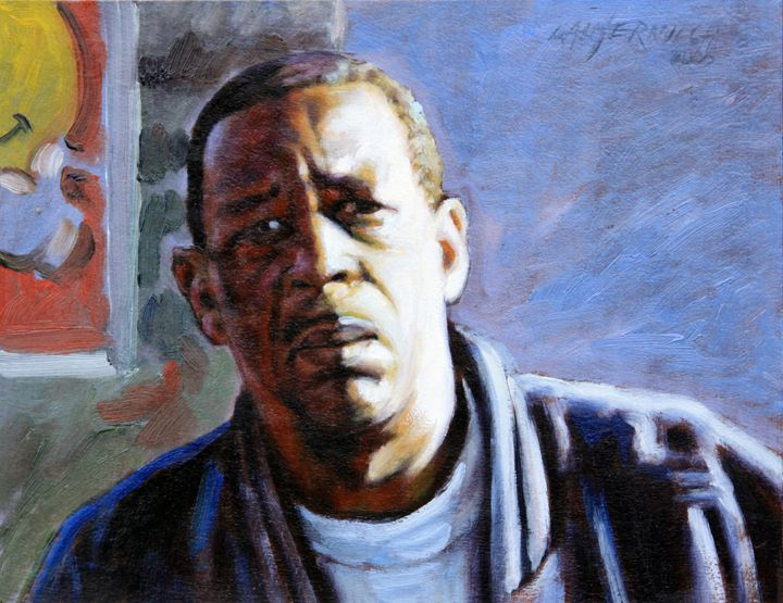 Man in Morning Sunlight - Paintings by John Lautermilch