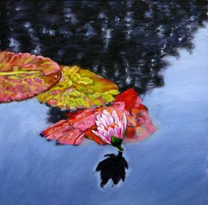 Floating Fall Colors 111-2005 - Paintings by John Lautermilch