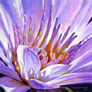 Royal Purple and Gold 119-2005 - Paintings by John Lautermilch