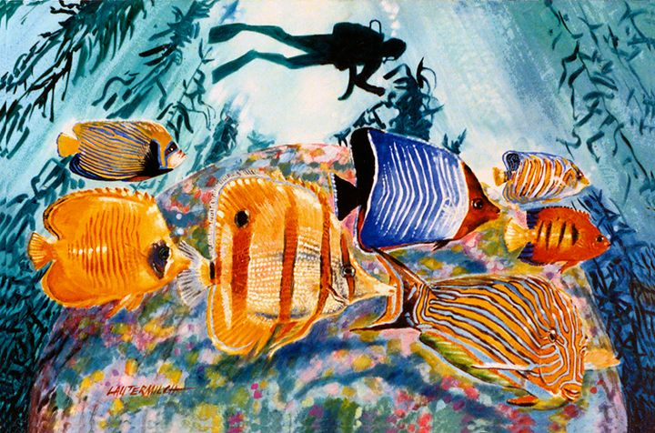 Ocean Life 125-2005 - Paintings by John Lautermilch