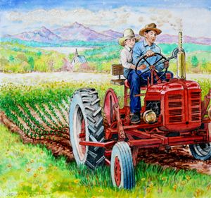 Planting The Seed - Paintings by John Lautermilch