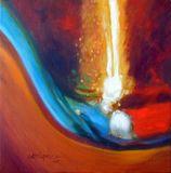 "16""x16"" oil on canvas"