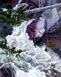 Rushing Stream - Paintings by John Lautermilch
