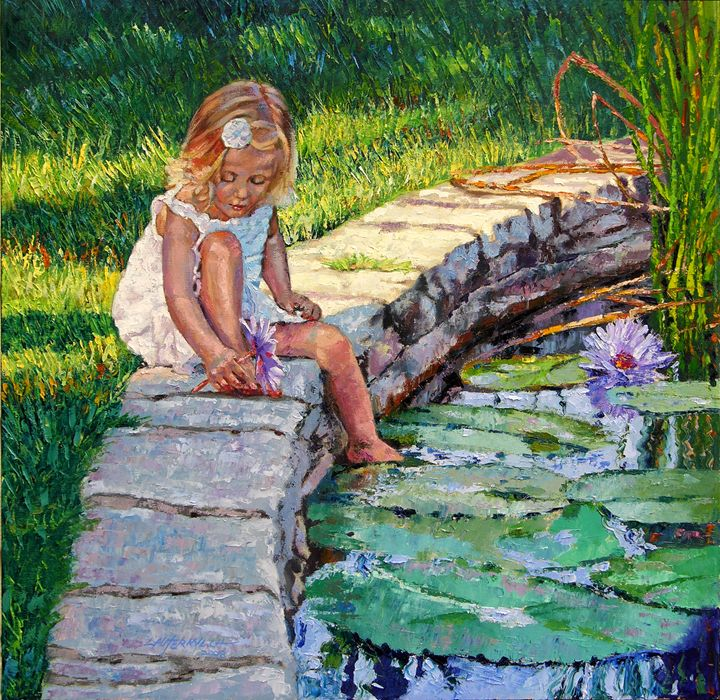 Enjoying Yesterday's Sunlight - Paintings by John Lautermilch