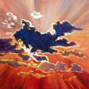 Last Night's Sunset - Paintings by John Lautermilch