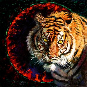 Through the Ring of Fire - Paintings by John Lautermilch