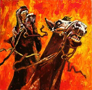 War Horses 21-2008 - Paintings by John Lautermilch