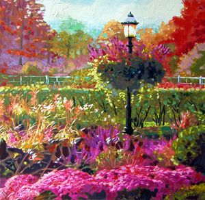 Gas Light in the Garden - Paintings by John Lautermilch