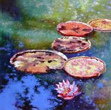 Fall Colors on the Pond - Paintings by John Lautermilch