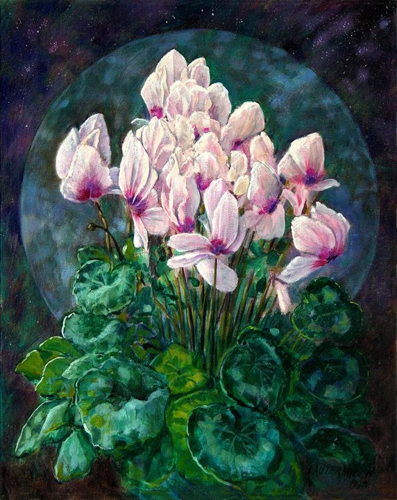Cyclamen in Orbit - Paintings by John Lautermilch