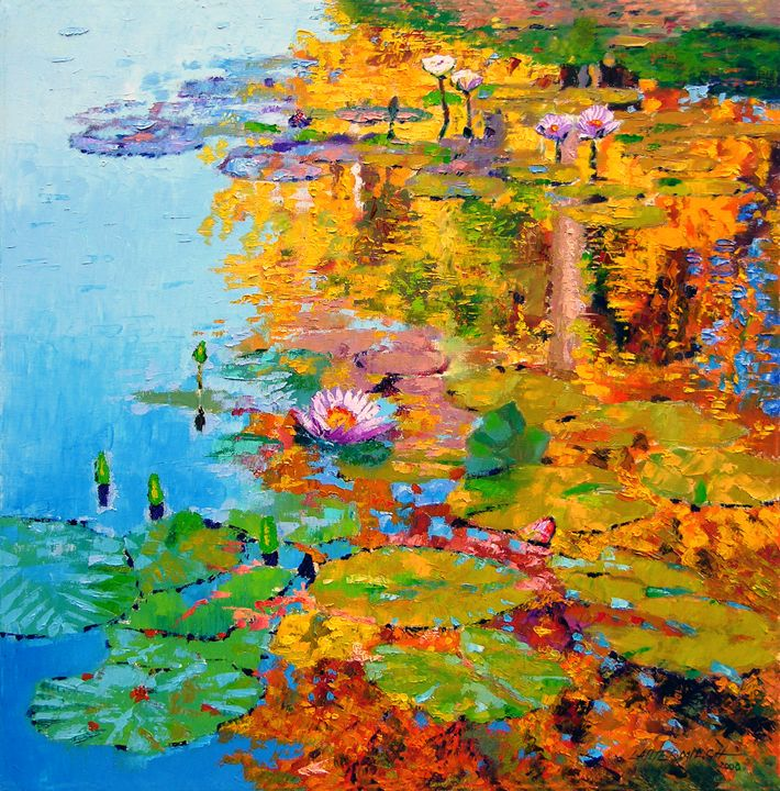 Aglow with Fall - Paintings by John Lautermilch