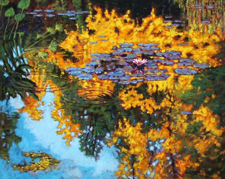 Gold Reflections - Paintings by John Lautermilch