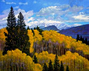 Nature's Patterns - Rocky Mountains - Paintings by John Lautermilch