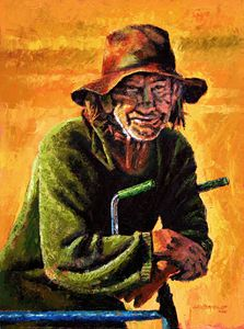 Homeless - Paintings by John Lautermilch