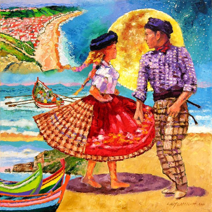Nazare' Portugal - Paintings by John Lautermilch