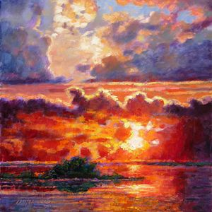 Glorious Sunset 11-2009 - Paintings by John Lautermilch