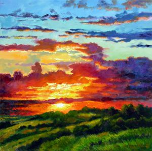 Evenings Final Glow 14-2009 - Paintings by John Lautermilch