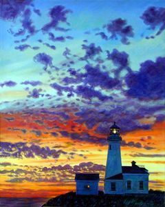 Peace at the Lighthouse - Paintings by John Lautermilch