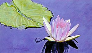 Green and Purple Peace 7-2003 - Paintings by John Lautermilch