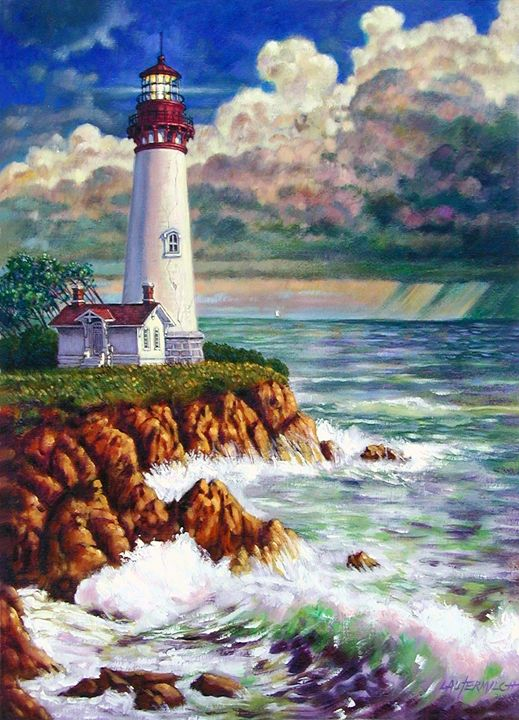 Storm Rolling In 19-2003 - Paintings by John Lautermilch