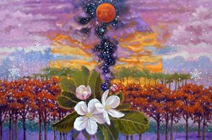 Blooming Universe 28-2003 - Paintings by John Lautermilch